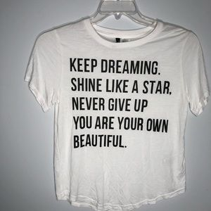 NWOT H&M Divided slogan t-shirt